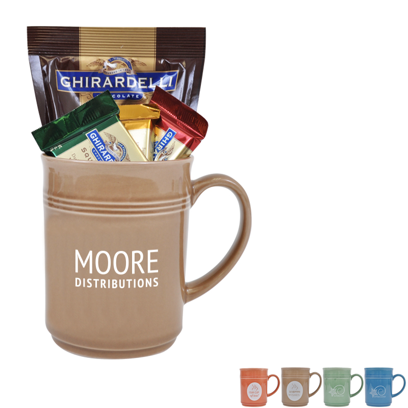 Cup of Thanks Ghirardelli 14oz. Mug Gift Set, Custom