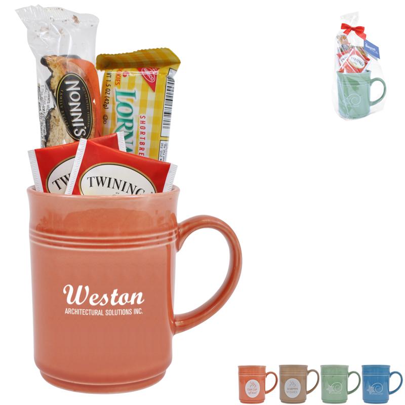 Cup of Thanks Tea and Cookies 14oz. Mug Gift Set, Custom