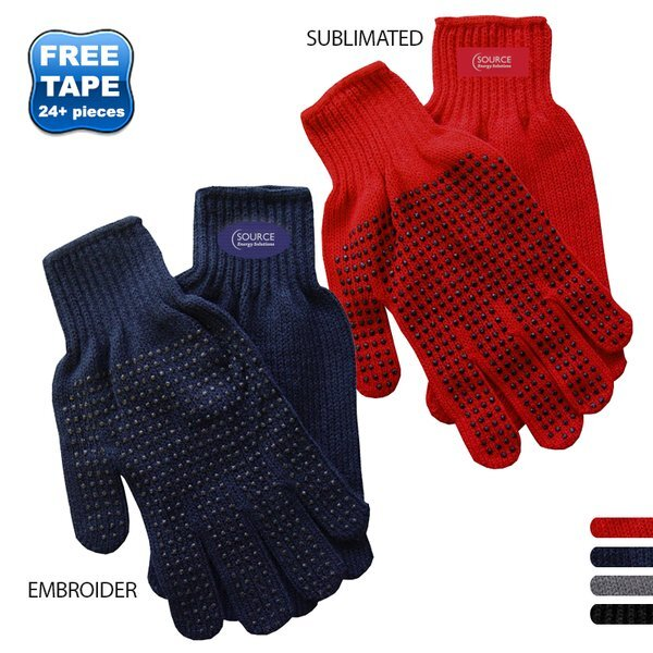 Knit Polyester Gripper Gloves
