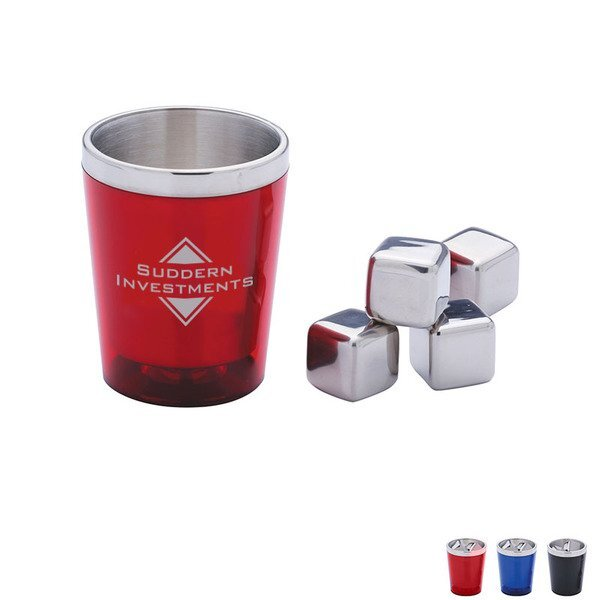Whiskey Stones & Tumbler Gift Set
