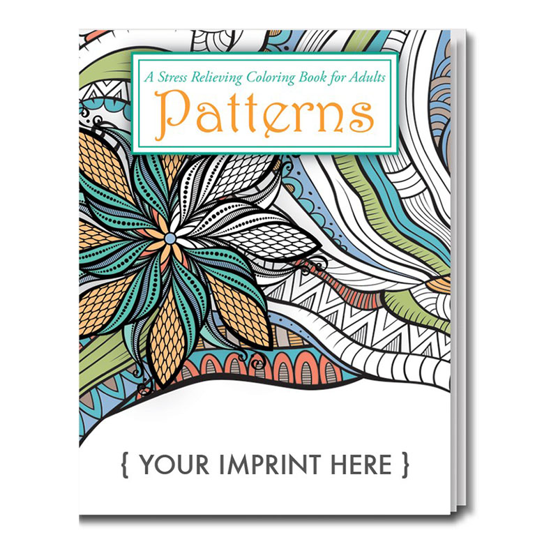 Adult Coloring Book, Patterns Theme