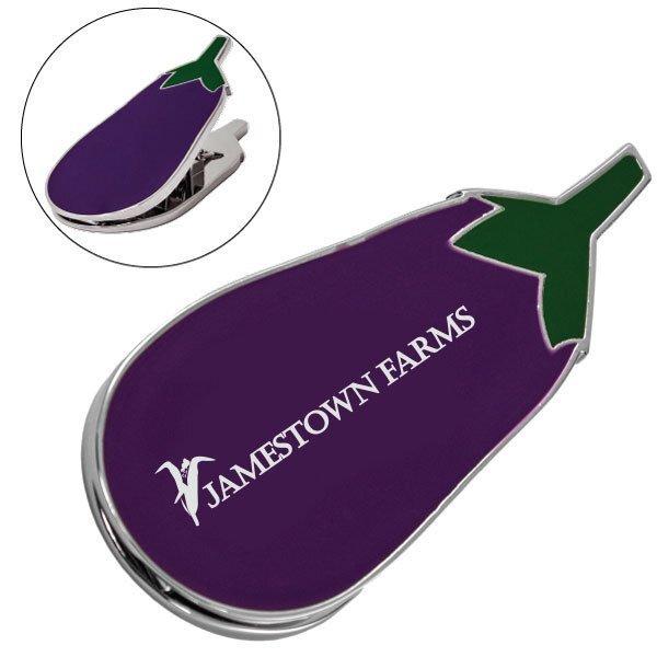 Eggplant Metal Magnetic Clip