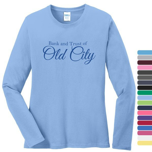 Port & Company® 100% Cotton Long Sleeve Ladies' Tee