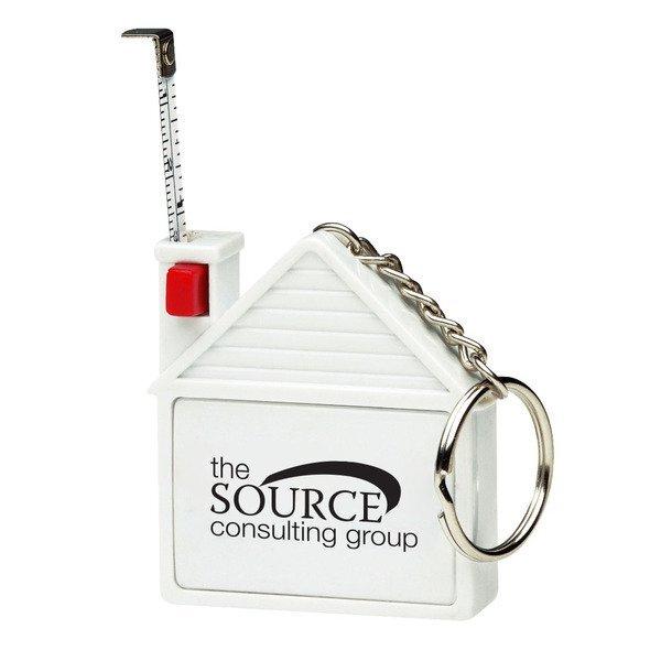 House Tape Measure Keychain