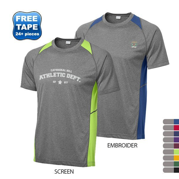 Sport-Tek® Heather Colorblock Contender™ Men's Performance Tee