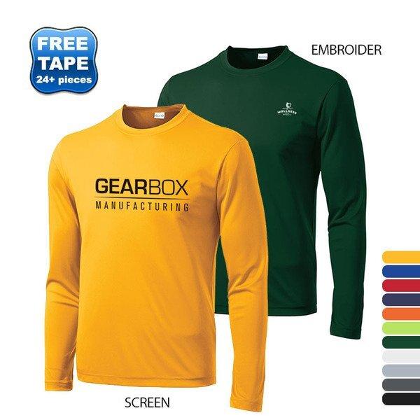 Sport-Tek® PosiCharge™ Competitor™ Men's Interlock Long Sleeve Performance Tee