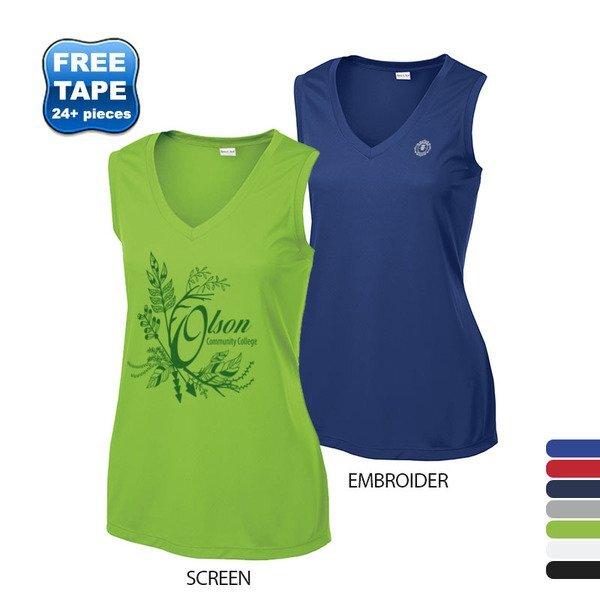 Sport-Tek® PosiCharge™ Competitor™ Sleeveless Ladies' V-Neck Performance Tee