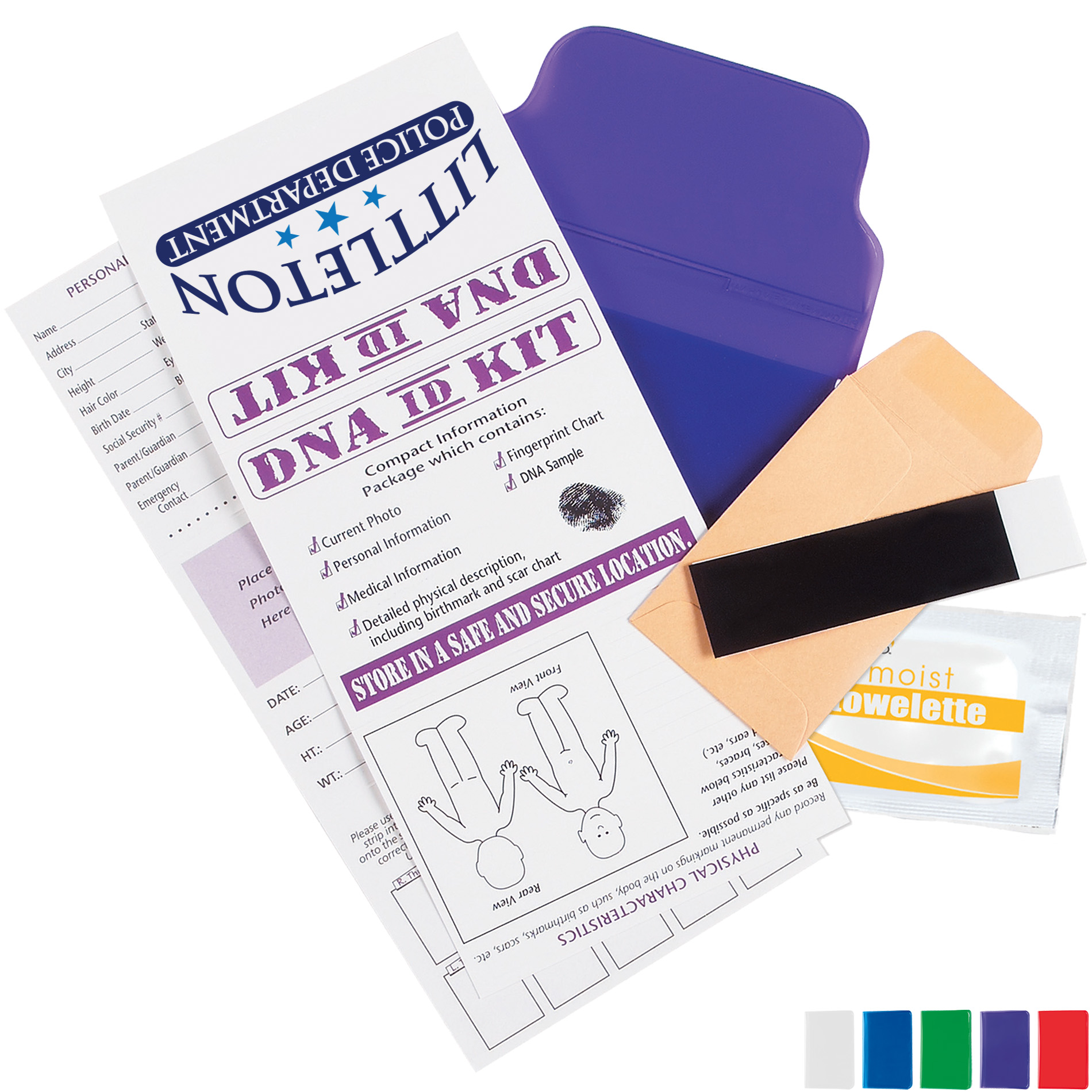 Child DNA ID Kit, Full Color Imprint