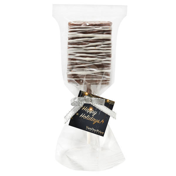 Chocolate Covered Crispy Pop with Chocolate Drizzle