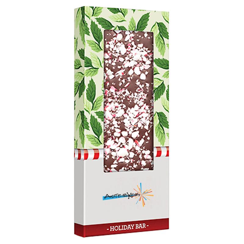Gourmet Belgian Chocolate Bar with Peppermint, 3oz.