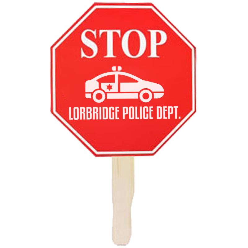 Stop Sign Hand Fan
