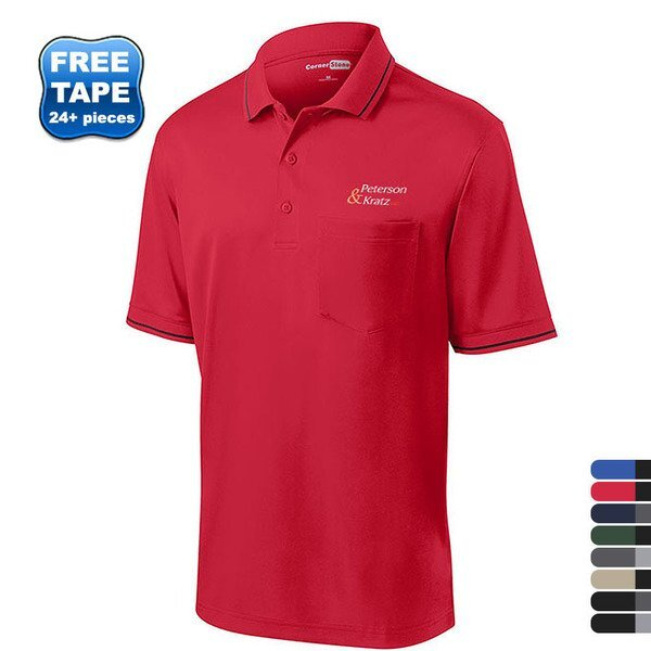 CornerStone® Select Snag-Proof Tipped Men's Polo with Pocket