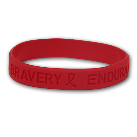 Red Wristbands - Hope, Courage, Stock