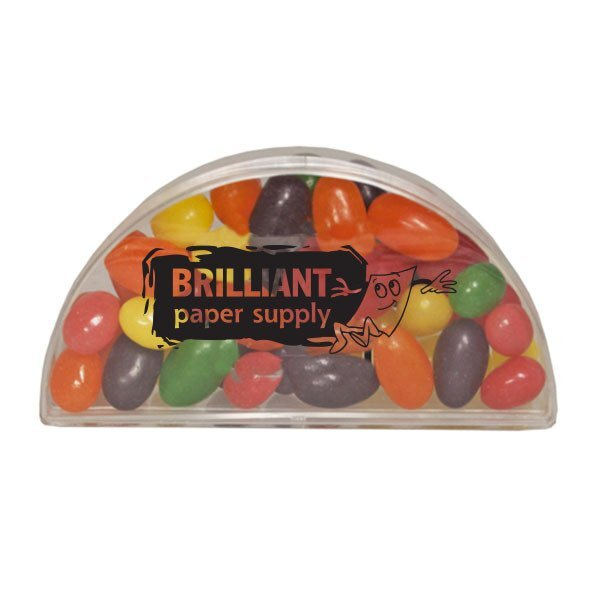 Clear Half Moon Container w/ Jelly Beans
