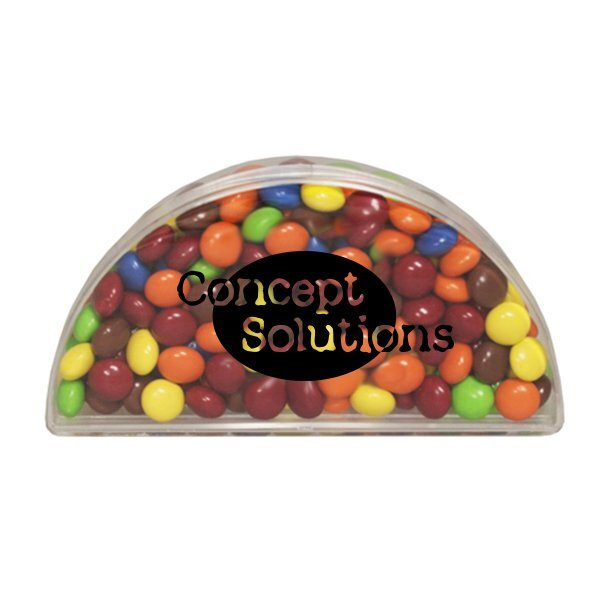 Clear Half Moon Container w/ Chocolate Littles