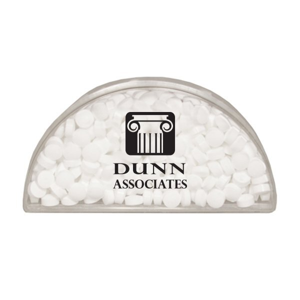 Clear Half Moon Container w/ Sugar Free Mints