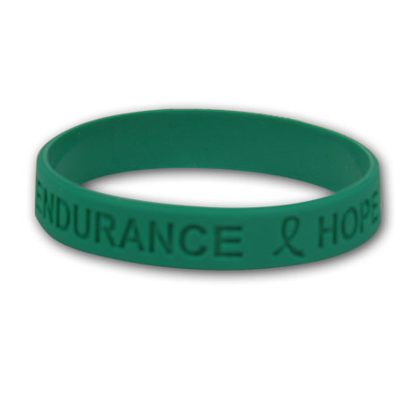 Green Wristbands - Hope, Courage,  Stock
