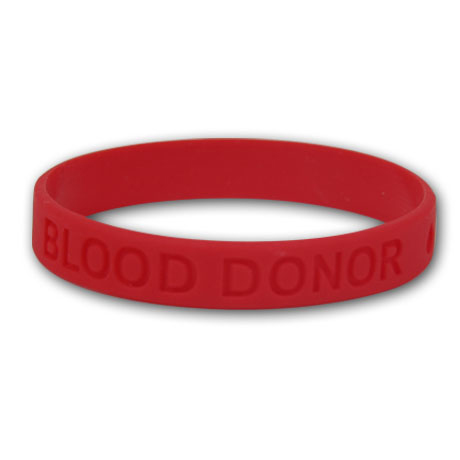 Red Wristbands - Blood Donor, Stock