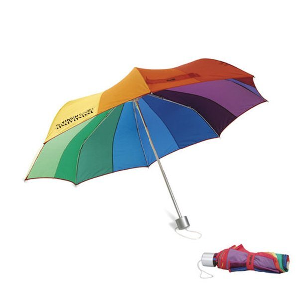 "MoMA Color Spectrum Collapsible Umbrella, 37"" Arc"