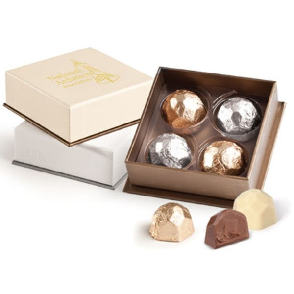 Deco Belgian Chocolate Truffle Gift Box, 4 Pcs