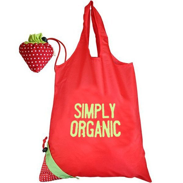 Morph Strawberry Fold-Up Tote