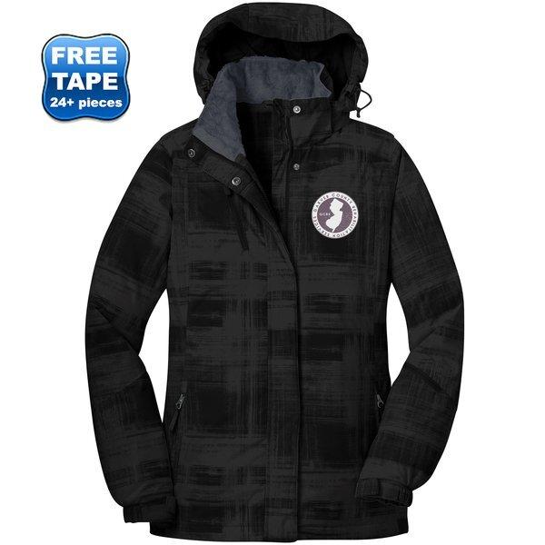 Port Authority® Brushstroke Print Insulated Ladies' Jacket