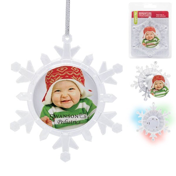 Light Up Photo Snowflake Photo Ornament