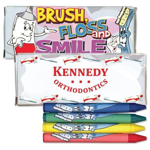 Four Pack Crayons, Dental Design Custom