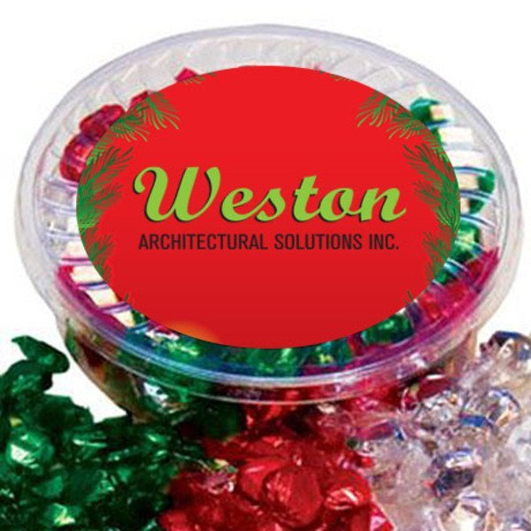 Designer Plastic Tray w/ Hard Foil Candy
