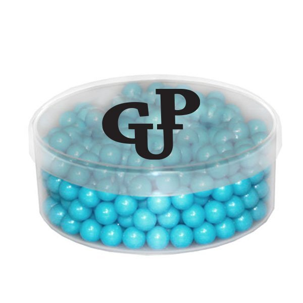 Clear Round Container w/ Colored Candy