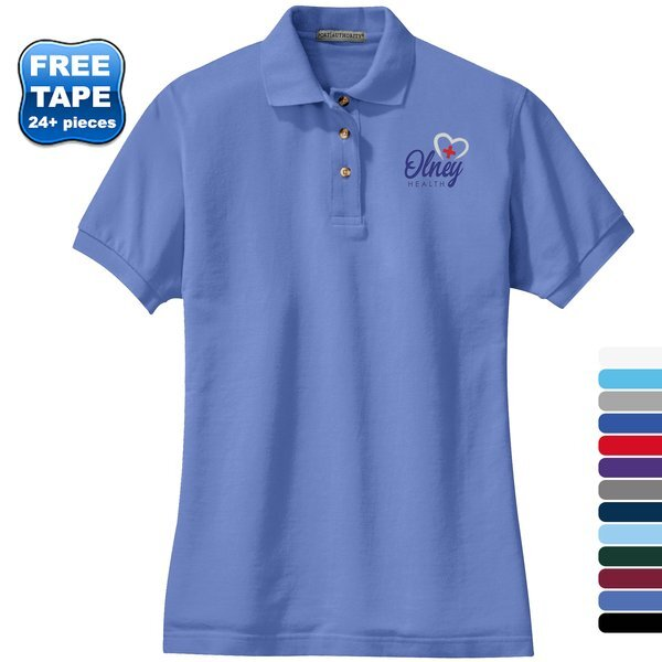 Port Authority® Cotton Pique Knit Ladies' Polo