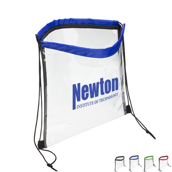 Clear Bag with Drawstring and Color Accent