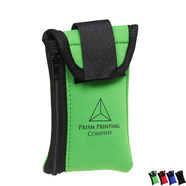 Neoprene Shoe Wallet with Zippered Pouch
