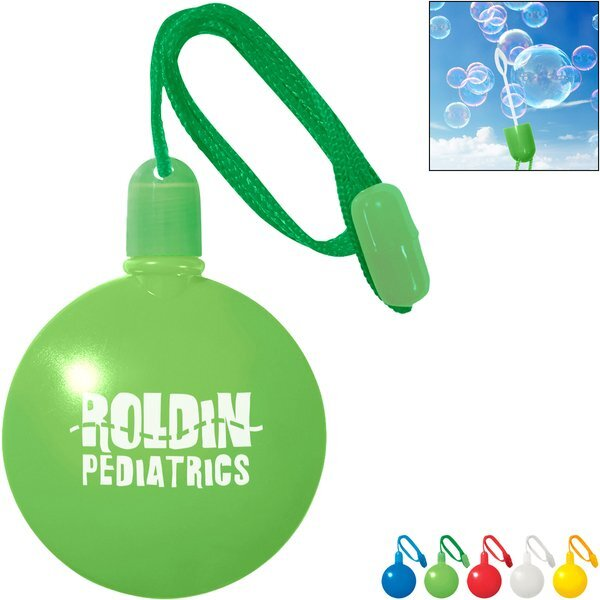 Round Bubble Dispenser with Neck Cord, 1-1/3oz.