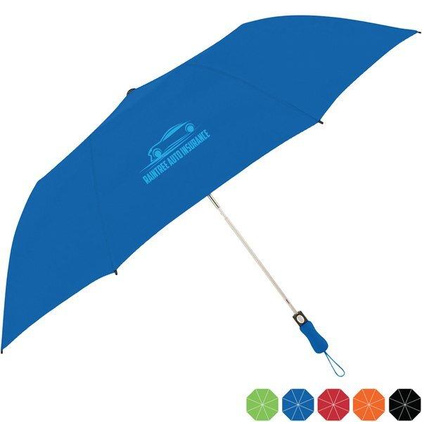 "Vibrant Colored Telescopic Folding Umbrella, 58"" Arc"