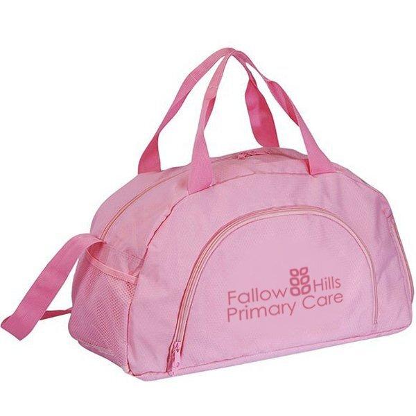 "Big Pink 400D Nylon Sporty Duffel Bag, 19"""