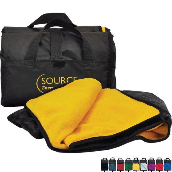 "Fold Up Nylon Fleece Outdoor Blanket, 50"" x 60"""