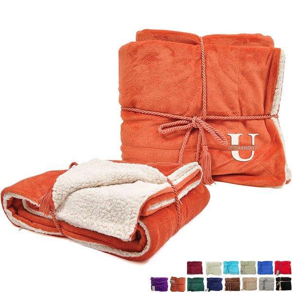 """Lambswool Microsherpa Blanket, 50"""" x 60"""""""