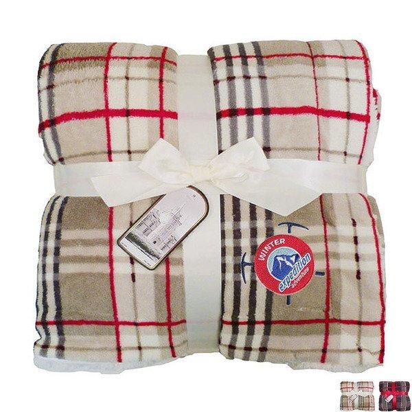 """Lambswool Microsherpa Plaid Blanket, 50"""" x 60"""""""