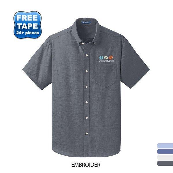 Port Authority® SuperPro™ Oxford Men's Short Sleeve Shirt