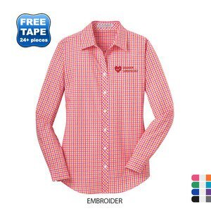 Port Authority® Gingham Easy Care Ladies' Shirt
