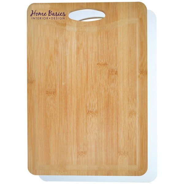 Bamboo & Plastic Double-Sided Cutting Board