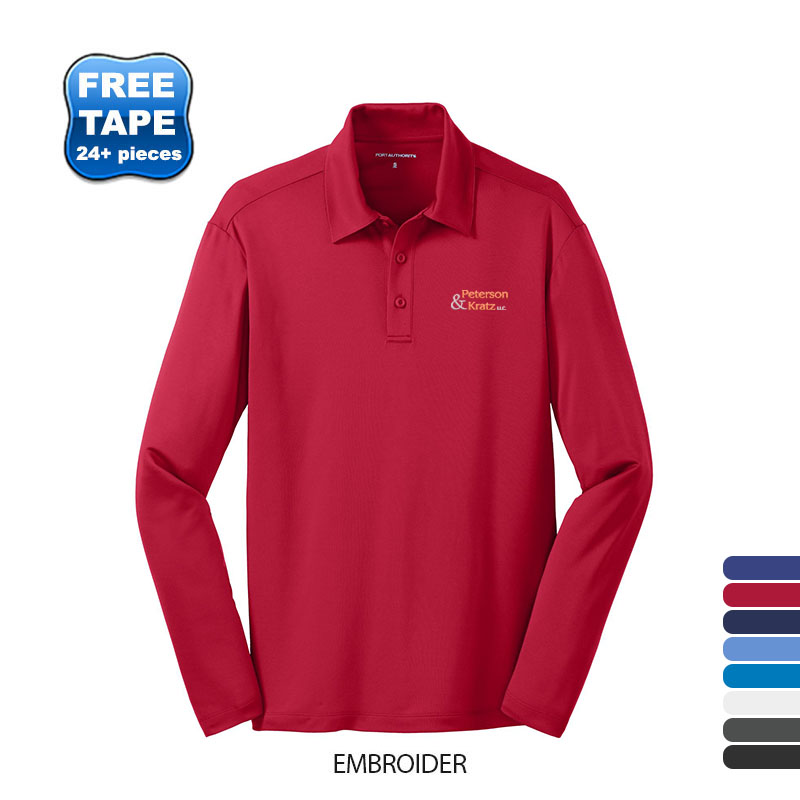 Port Authority® Silk Touch™ Performance Men's Long Sleeve Polo