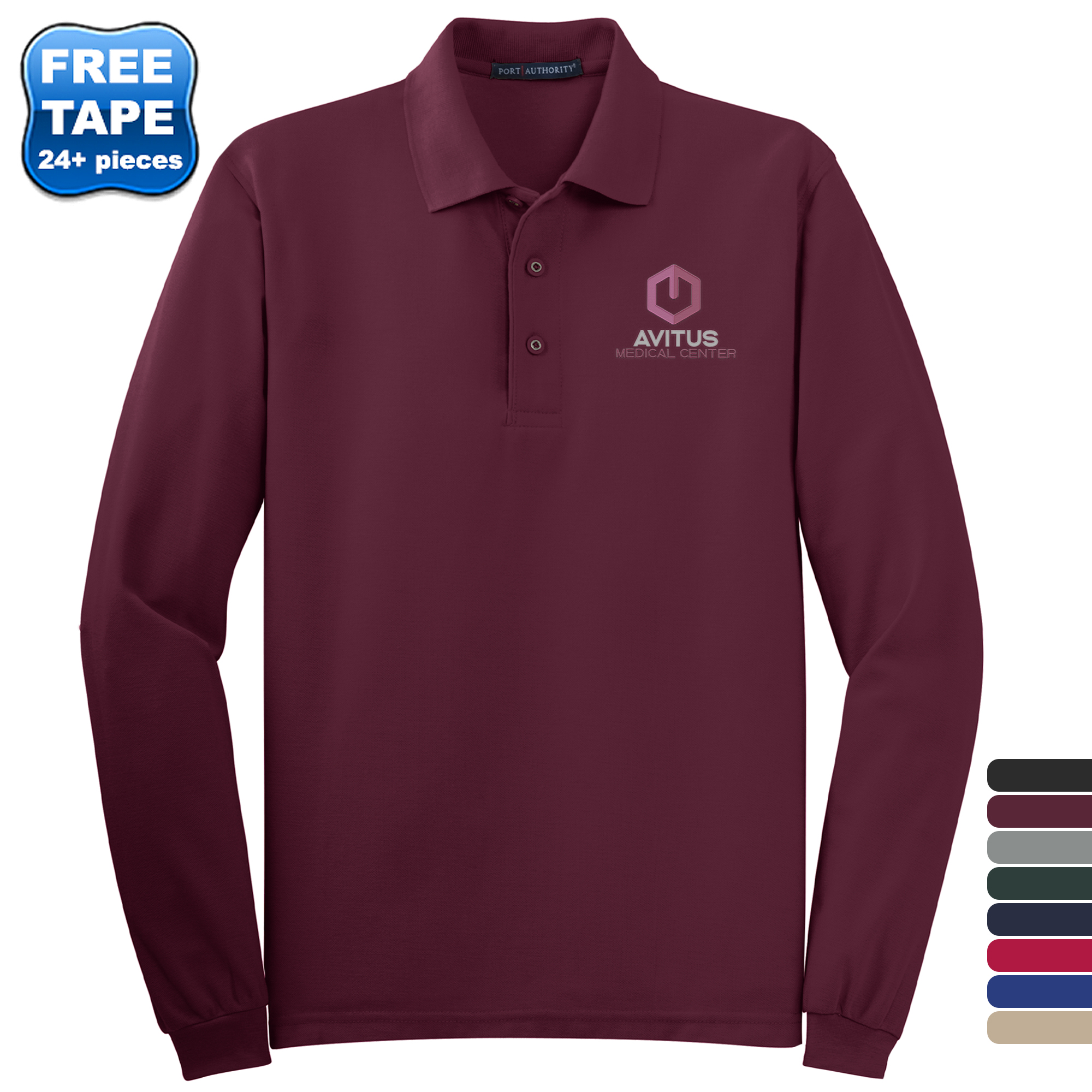 Port Authority® Silk Touch™ Pique Men's Long Sleeve Polo