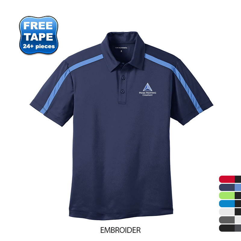 Port Authority® Silk Touch™ Performance Colorblock Stripe Men's Polo