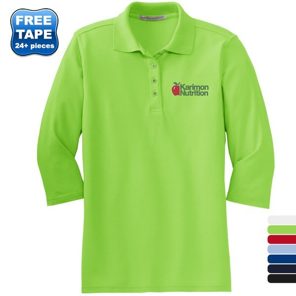 Port Authority® Silk Touch™ Pique Ladies' 3/4 Sleeve Polo