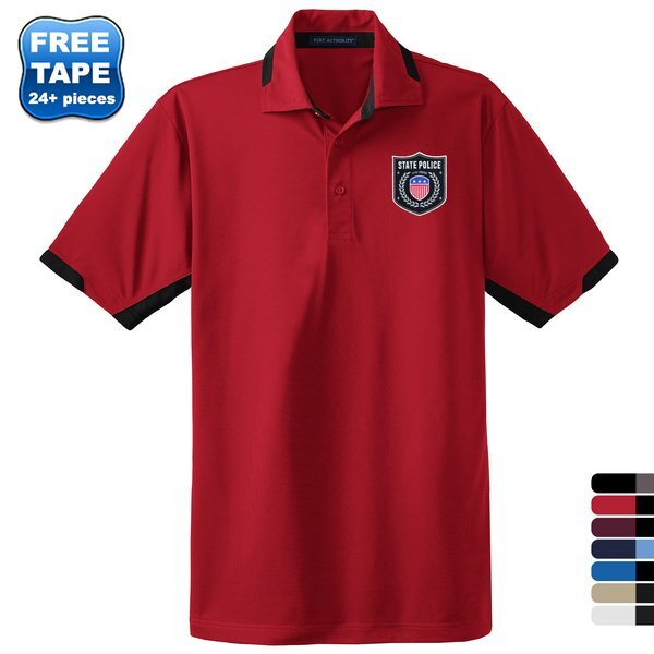 Port Authority® Dry Zone® Colorblock Ottoman Men's Performance Polo