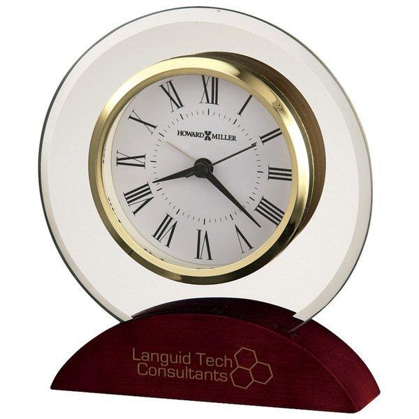 Howard Miller® Dana Beveled Glass Tabletop Clock