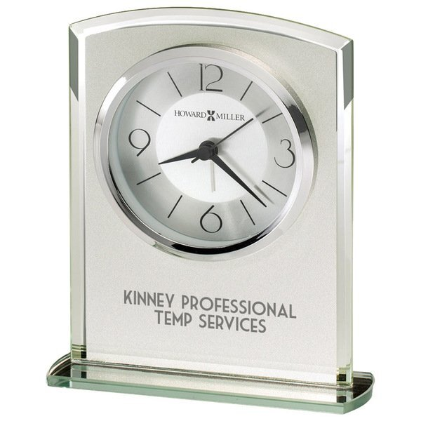 Howard Miller® Glamour Frosted Glass Tabletop Clock