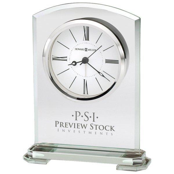 Howard Miller® Corsica Beveled Jade Glass Clock